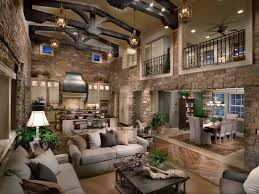 Rustic Livingroom This Rustic Living Room And Kitchen Is A Magnificent Space That