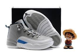kid jordans kids air 12 shoes wolf gray white blue 75486 55