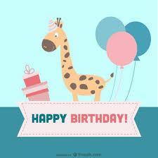 cartoon birthday cards cartoon birthday card vector free download