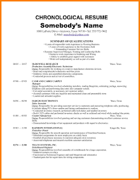 Free Chronological Resume Template Chronological Resume Example Free Richard Iii Ap Essay