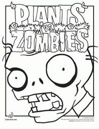 plants zombies coloring printable coloring book