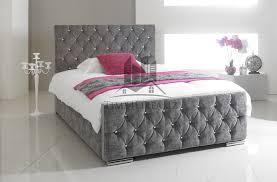 grey bed frames and divan bases ebay