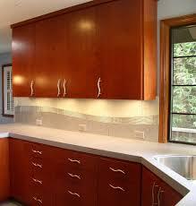 Glass Tile Custom Backsplash Contemporary Kitchen San - Custom backsplash