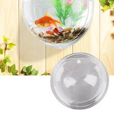 Fish Home Decor Wall Hanging Bubble Bowl Plant Fish Tank Aquarium Home Decor