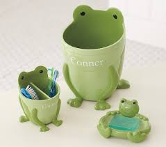 frog bathroom accessories pottery barn kids frog bathroom