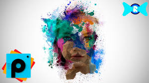 colors splash make face color face paint splash picsart tutorial youtube