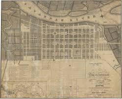 Savannah Ga Map Oglethorpe And Savannah U0027s City Plan U2013 Georgia Historical Society