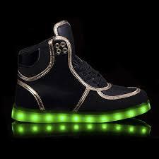led light up shoes adults led light up shoes for men high tops black cheap sale