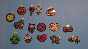 shrinky dinks neon jewelry kit rings bracelet barrettes