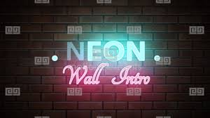 neon wall intro apple motion and final cut pro x template apple