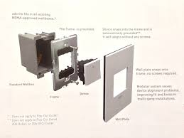 legrand adorne diagram for wall plates and switches or dimmers