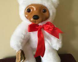 wooden faced teddy bears wooden teddy etsy