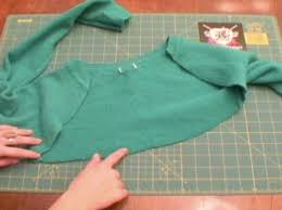 how to make a shrug and skirt set out of a sweater 4 steps
