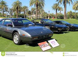 80s ferrari classic 80s ferrari sports car with others editorial photography