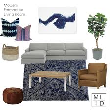 modern farmhouse living room design concept u2014 michelle lisac