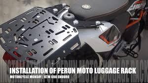 Tire Rack Motorcycle Installation Of Perun Moto Luggage Rack Motorcycle Monday Ktm