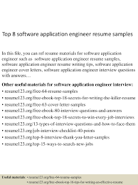 resume writing software top8softwareapplicationengineerresumesamples 150614081307 lva1 app6891 thumbnail 4 jpg cb 1434269634