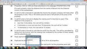 Property Spreadsheet Spreadsheet Task June 2013 P3 V1 Youtube