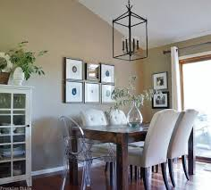 Lantern Dining Room Lights The Lantern Mix Of Lucite Upholstered Chairs Favorites