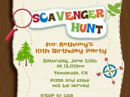 wording for mall scavenger hunt party invitations ideas scavenger