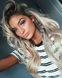 dark roots blonde hair love the color or her hair and her makeup hair and beauty