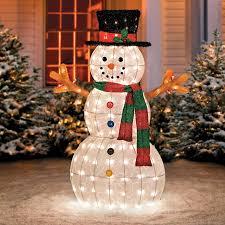 glistening pre lit snowman yard decor 48 improvements catalog