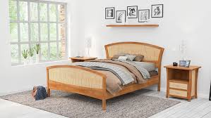 King Wood Bed Frame Solid Wood Bed Frame King Or California King Handmade