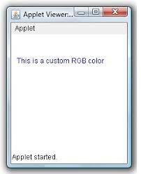 create custom color using rgb example java examples java