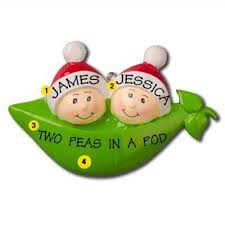 two peas in a pod ornament two peas in a pod personalized christmas ornament