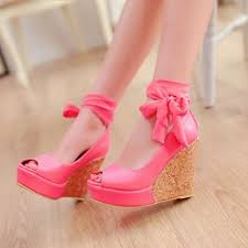 ribbon wedges free shipping women s new style high heeled wedges platform