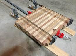 High Tech Cutting Board Diy Butcher Block Cutting Board Clamps Wood Pinterest