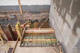 treppe betonieren moselland museum dezember 2015