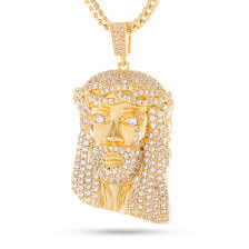 necklace gold jesus images The 14k gold jesus piece necklace pendants king ice kingice jpg