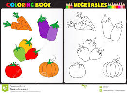 coloring book vegetables stock vector image 39008024