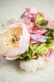 Peonies Bouquet And Peony Bouquet Pink White U0026 Green