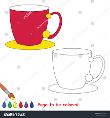 tea pair cup colored coloring stock vector 724314535 shutterstock