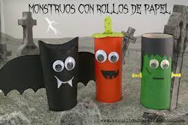 toilet paper halloween manualidades y tendencias halloween monstruos con rollos de