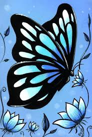 butterflies and flowers 11 painting by elaina wagner