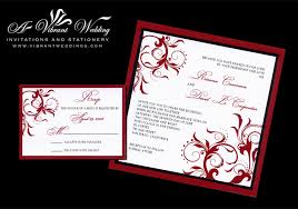 Black Wedding Invitations Red And Black Wedding Invitation With Spanish Floral Scroll Design