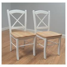 tiffany dining chair wood natural white set of 2 tms target