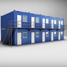 container shipping house double floor 3d cgtrader