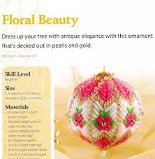 floral beauty ornament christmas plastic canvas pattern from a