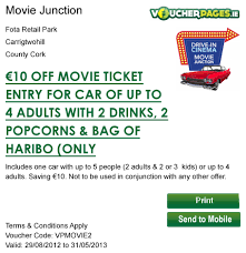 movie junction coupons entertainment and leisure ireland all
