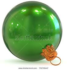 New Years Eve Hanging Decorations by 3d Rendering Green Christmas Ball Decoration Stock Illustration