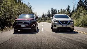 nissan murano vs ford escape comparison 2015 ford edge titanium vs nissan murano platinum