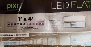 pixi led flat light installation pixi 1ft x 4ft led flat light luminaire ebay