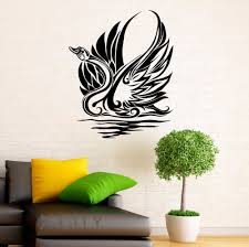 compare prices on office room decor online shopping buy low price swan sticker waterbird vinyl decal grace home wall interior design art office murals lving room decor