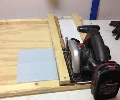 circular saw cutting jig for vinyl siding
