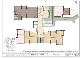 Dlf New Town Heights Floor Plan Residential Flats In Rajarhat Newtown Elita Garden Vista
