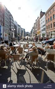 Outdoor Sitting Area Outdoor Seating Area Of Coffee Shop Poststrasse Hamburg Germany